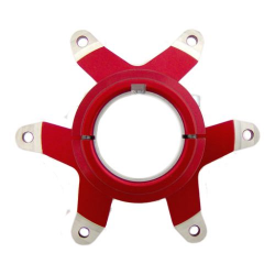 SPROCKET HUB FOR 50mm AXLE RED