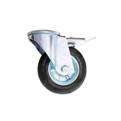 REVOLVING TYRE FOR TROLLEY D.100 WITH BRAKE